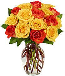 One Dz Fall Rose Bouquet