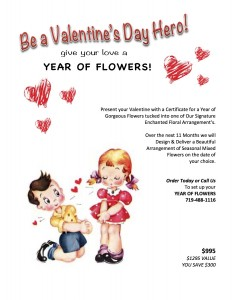 One Full Year of Flowers  The perfect Valentines Gift in Monument, CO   ENCHANTED FLORIST