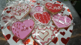 One Gift Wrapped Valentine Cookie by Sweet Alainas $3.75