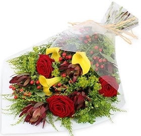 ONE LOVE GIFT WRAP BOUQUET in Garrett Park, MD | ROCKVILLE FLORIST & GIFT BASKETS