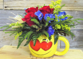 One Love Mug Arrangement