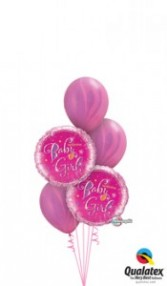 sweet baby girl balloons