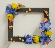 One of a Kind silk picture frame wreath Silk wreath
