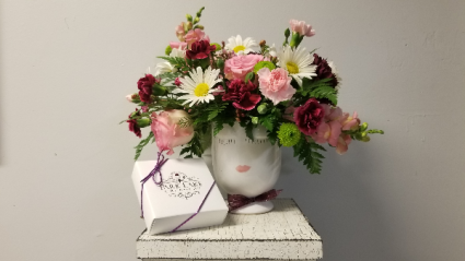 One-of-a-Kind Valentine Vased Cut Flowers