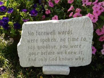 """""""Only God Knows Why"""" Memory Stone"""