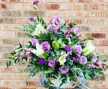 only Purple  Fresh Arrangement
