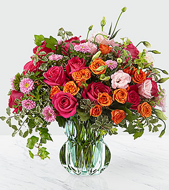 Only The Best vase bouquet