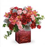Ooh La Ombré bouquet  Cube