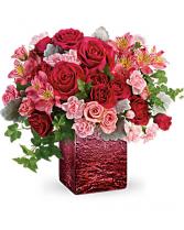 Ooh La Ombre Bouquet Cube Arrangement