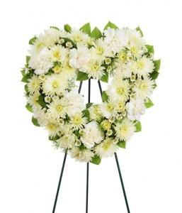 Open Heart- mixed flowers