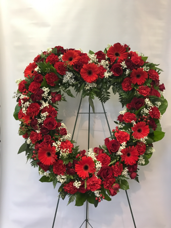 Open heart Funeral arrangement