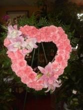 Open Heart w/Pink Carnation