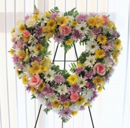 PEACEFUL OPEN HEART WREATH
