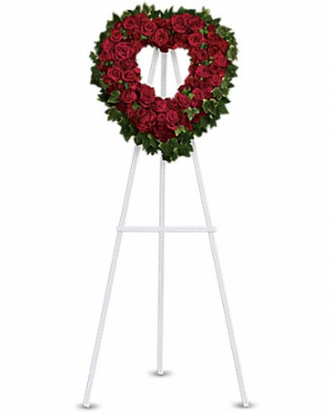 open heart wreath available in any color Funeral wreath in Edmonton, AB | PETALS ON THE TRAIL