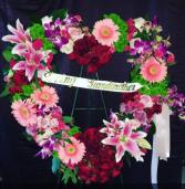 Open heart wreath  Funeral
