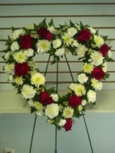 Open Heart Wreath sympathy