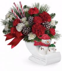 Open Sleigh Ride! Christmas Bouquet