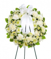 Open Wreath Standing Spray Funeral, Memorial Flowers