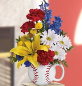 Opening Day for Dad's     Keepsake Arrangement