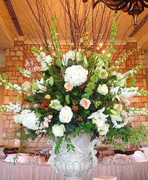 Optimistic Ivory Table Arrangement in Ozone Park, NY | Heavenly Florist