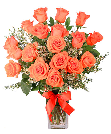 Orange Admiration Rose Arrangement