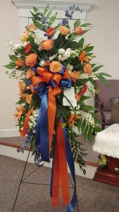 Orange and Blue Tried and True Gator Tribute in Gainesville, FL | PRANGE'S FLORIST
