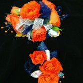 Orange and blue Wristlet & Bout Prom