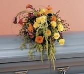 Fall Woodland Garden Casket Flowers