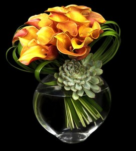 Orange Beauty Vase arrangement