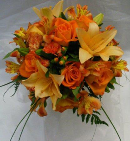 Orange Blitz Bridal Bouquet