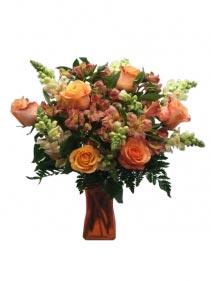 Orange Blosson Birthday Flower Arrangement