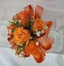 Orange Bud Prom Corsage