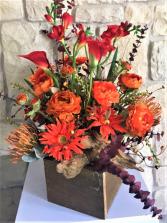 ORANGE BURST ALL SILK FLOWERS