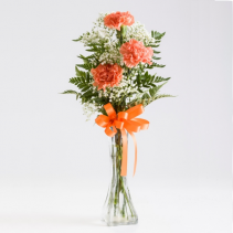ORANGE CARNATION BUD VASE