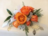 Orange Charm wrist corsage Weddings and Prom