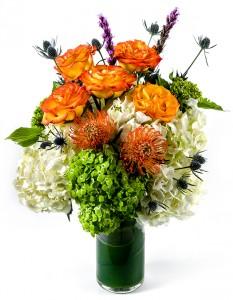 Orange Crash Vase