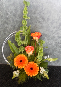 Orange Creamsicle Dish Arrangement