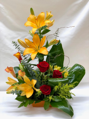 Orange Crush Arrangement in Croton On Hudson, NY | Cooke's Little Shoppe Of Flowers