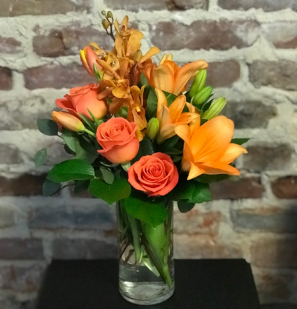 Orange Crush Bouquet Vased