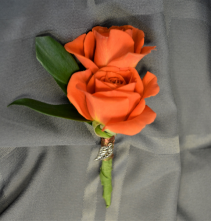 ORANGE CRUSH BOUTONNIERE IN STORE PICK UP ONLY BOUTONNIERE