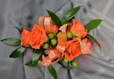 ORANGE CRUSH CORSAGE IN STORE PICK UP ONLY WRIST CORSAGE