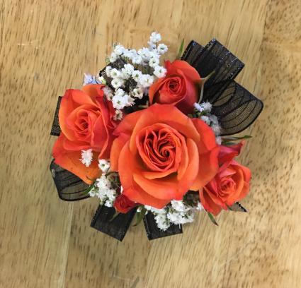 Orange rose Corsage