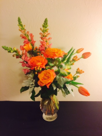 Orange Crush Vase Arrangement