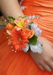 Tangerine Delight Wristlet