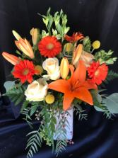 Orange Delight Vase