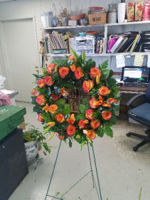 orange delight Wreath