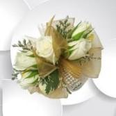 golden elegance wrist corsage