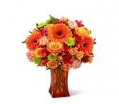 Orange Escape™ Bouquet vased arrangement