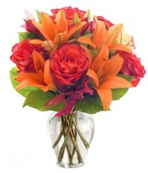 Orange for You Vase Arrangment