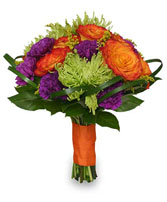 Wedding Bridal Bouquet Vibrant Hand-tied Flowers